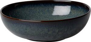 Villeroy & Boch Lave gris Bol 6 Stück Nr. 1042591900 und 4er Set EKM Living Edelstahl Strohhalme