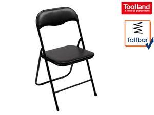 Toolland klappstuhl 38 x 43 x 78 cm PVC/Stahl schwarz
