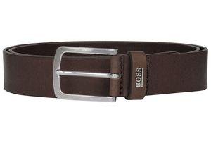Boss 50424636-202 Herrengürtel aus Leder Jor-Logo-Sz35 Dunkelbraun, 100 cm