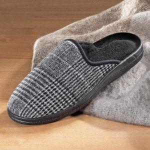 Herren-Pantoffel aus weichem Flanell, Größe:44