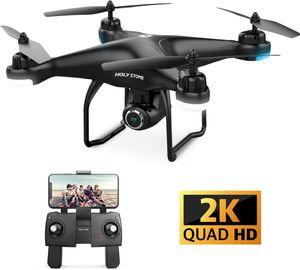 Holy Stone HS120D GPS Drohne mit 2K Kamera,GPS Follow Me & Return Home,Selbst Angelegte Flugpfade