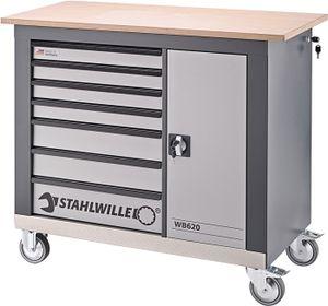 STAHLWILLE Rollwerkbank WB620 Außen-B1150xT500xH1030mm Schubladenanzahl 7 750 kg