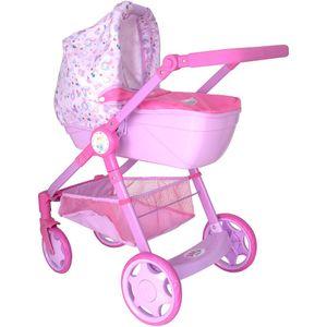 Baby Born Kinder Puppenwagen Rose 2in1 Puppen Sportwagen Kinderwagen Set