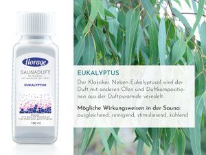 FLORAGE 100ml Saunaduft Eucalyptus Konzentrat Saunaaufguss Saunaöl  Sauna Aufguss