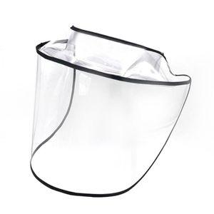Transparent schwarze Maske (A) ein transparenter Schutz Maskes $ abnehmbare Schutzkappe anti-Spritzschutzschild Sputum Entladungsgesichtsmaske hat winddicht