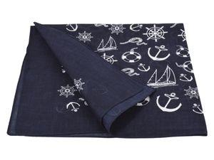 Bandana Zandana Kopftuch Halstuch verschiedene Muster 100% Baumwolle, Modell wählen:dunkel blau Anker Boot