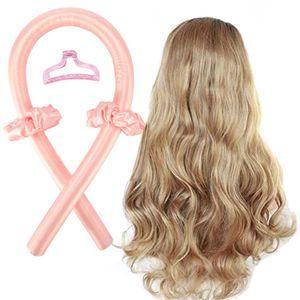 Silk Hair Curler, Heatless Curler,Heatless Curls, Heatless Curling Ribbon, Soft Headband Wave Formers Hair Curlers DIY Hair Styling Kit, Haar Lockenwickler, Curling Rods Set