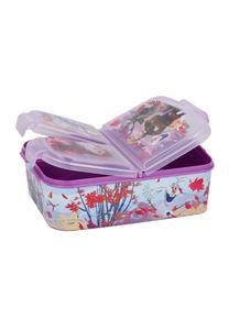 Disney Frozen 2 - Die Eiskönigin II Anna und Elsa Kinder Premium Lunchbox Brotdose Frühstücks-Box Vesper-Dose mit 3 Fächern