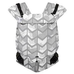 Hoppediz® Primeo Babytrage Jacquard Design: Amsterdam stone, Größe: One Size mit Aufbewahrungsbeutel und bebilderte Bindeanleitung