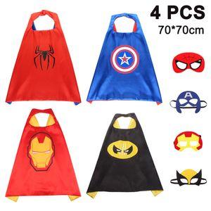 4pcs  Superhelden Kinderkostüm Set - Spielzeug & Geschenke für Kinder