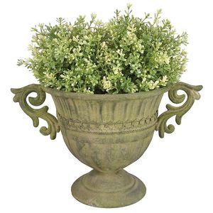 Pflanzgefäß, Amphore, Blumen Kelch, im Barockstil, Pflanzen-Topf, Metall
