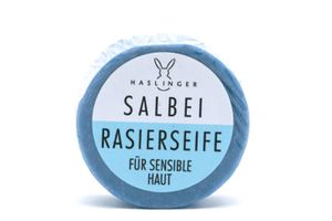 Haslinger Salbei Rasierseife für sensible Haut beruhigend milde Pflanzenöle 60 g