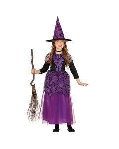 Kleine Hexe Luna Kinder Verkleidung für Halloween und Karneval Größe: 5-6 Jahre