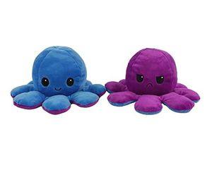 Niedliche Octopus Plüschtiere,Octopus Puppe,Octopus Kuscheltierpuppe,Kreative Spielzeuggeschenke für Kinder,Farbe: blau, lila