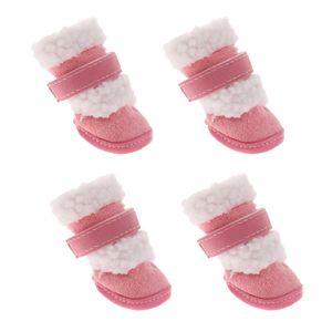 Hundeschuhe Schneeschuhe Winter Schuhe Stiefel für Kleine Hunde Rosa s wie beschrieben