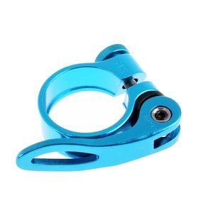 31,8 mm Aluminiumlegierung Mountain Road Fahrrad Schnellverschluss Sattelstützenklemme || Blau