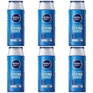 6 x Nivea Men  Pflegeshampoo Strong Power 250ml Flasche
