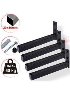 4x Wand-Reifenhalter, 31cm, 50kg, (30x30mm)