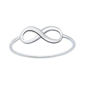 Infinity Ring 925 Silber, Ringgrösse:52 (16.5 mm Ø)