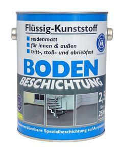 Flüssig Kunststoff 2,5L Bodenbeschichtung 25m² Betonfarbe Beton Beschichtung