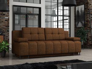 Mirjan24 Schlafsofa Morena, Sofa mit Bettkasten und Schlaffunktion, Schlafcouch (Farbe: Lux 11)