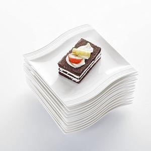 """MALACASA, Serie Flora, 12 teilig Set Porzellan Servierteller Klein Dessertteller Snackteller 5,5"""""""