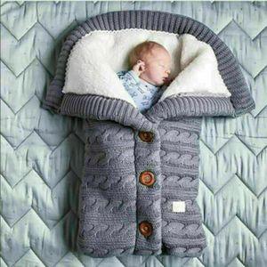 Baby Winter Einschlagdecke Wickeldecke Schlafsack Decke für Kinderwagen Warme Grau