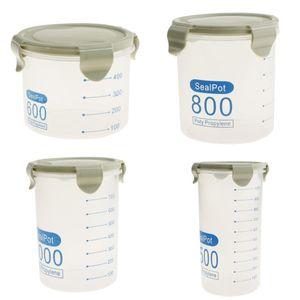 4 Teilige Getreidebehälter Aufbewahrungsdeckel Trockenfutterbehälter Auslauf Luftdicht Grün