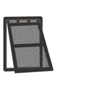 EXTRA Katzenklappe für Fliegengittertüren, Höhe:25 cm, Farbe:schwarz, Breite:20 cm