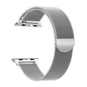 Edelstahl Uhrenarmbänder Magnetic Buckle Kompatibel mit Apple Watch 2/3/4/5/6 / se 38 / 40mm armbänder Silber