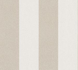A.S. Création Streifentapete New Elegance gestreifte Tapete Vliestapete beige creme 10,05 m x 0,53 m