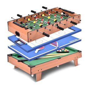 OOBEST Multifunktionsspieltisch 4in1 Spieltisch Multispieltisch Tischkicker Hockeytisch Multispieltisch Multigame