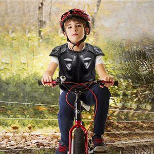 Kinder Brust Rücken Wirbelsäulenschutz Weste Ausrüstung Kinder Motorrad Rüstung M. Schwarz