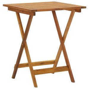 MÖBEL Klappbarer Gartentisch CLORIS Esstisch Balkontisch Tisch Garten 60x60x75 cm Massivholz Akazie #DE7557