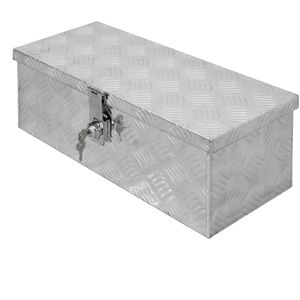 ECD Germany Alu Werkzeugkasten 57 x 22 x 19 cm - abschließbar - Werkzeugkoffür Werkzeugkiste Werkzeugbox Alukiste Kiste Alubox Transportbox Transportkiste Deichselbox Truckbox Box