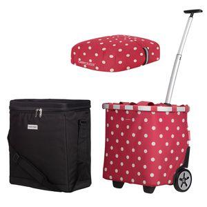 reisenthel carrycruiser ruby dots + cover + anndora Kühlbox 32 L schwarz - Ruby Dots Schwarz