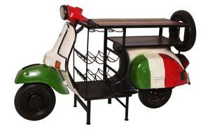 SIT Möbel Weintisch aus einem recyceltem Roller|B170 x T105 x H66 cm|01054-51|Serie THIS & THAT