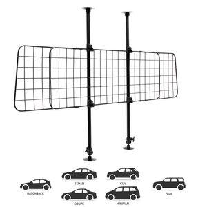Hundegitter fürs Auto mit stufenlos verstellbarer Höhe & Breite, Trenngitter universell einsetzbar
