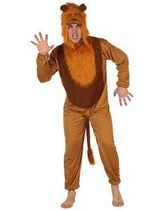 Gefährlicher Löwe Jumpsuit-Kostüm Tierkostüm braun