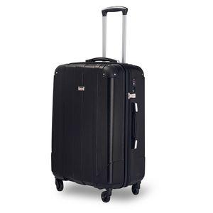 Koffer Handgepäck Koffer Reisekoffer mit TSA-Schloss - Farbe Schwarz Größe XL - Trolley Hartschale - 4 Rollen