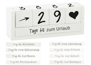 Countdown Würfel aus Holz - Sprüche Würfel