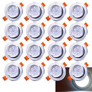 karpal 20 Pack 5W LED Einbaustrahler Schwenkbar Kaltweiss Einbauleuchte 420lm 6500K Deckenstrahler Wohnzimmer Deckenspots Schlafzimmer Deckenleuchte