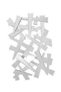 SalesFever Wandspiegel 120 cm | rechteckig | Splitterdesign | MDF und Spiegelglas| B 80 x T 3,3 x H 120 cm | verspiegelt