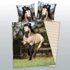 Renforcé-Bettwäsche Pferde 135 x 200/80 x 80 cm