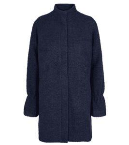 minimum Palma Herbst-Mantel kuschelige Damen Woll-Jacke Marine, Größe:36