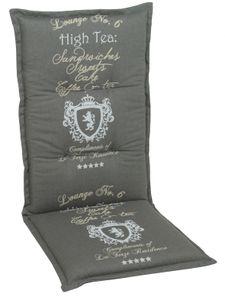 GO-DE Textil, Sesselauflage hoch, High Tea anthrazit, 2945-01