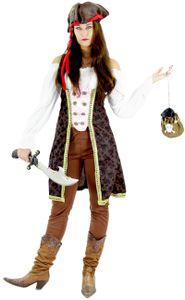 Piraten Kostüm für Damen, Größe:XL