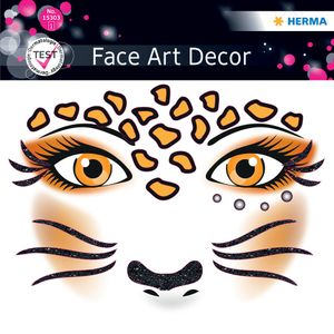"HERMA Face Art Sticker Gesichter ""Leopard"""