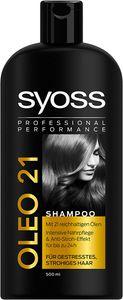 3x Syoss Oleo 21 Shampoo Für Gestresstes Strohiges Haar je 500 ml
