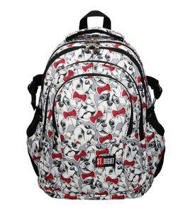 ST.RIGHT BP1 Schulrucksack Schultasche LOVELY PETS HUNDE weiß rot leicht Kinder Mädchen